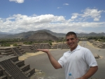 Daren visiting Mexico City historic sites