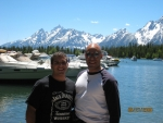 Daren and Lawrence at Jackson Lake, Wyoming
